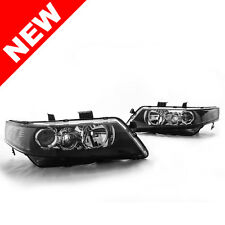 04-08 Acura TSX JDM Style Projector Headlights - Black w/ Smoke Reflector