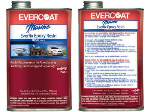 EVERCOAT-643 QUART EVERCOAT 643 ALL PURPOSE EPOXY RESIN 2 PARTS