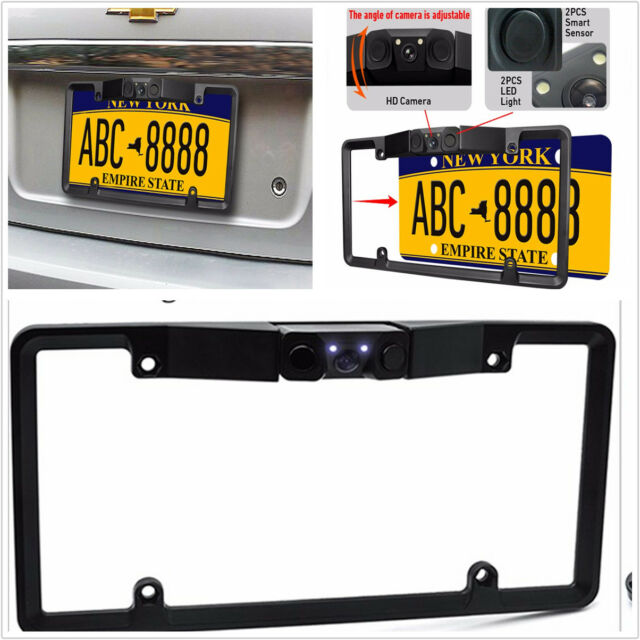 3in1 Car License Plate Frame Parking Sensor Radar Rearview Backup ...