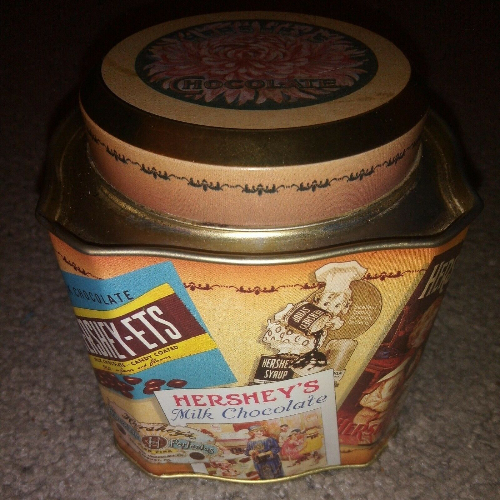 """Details about  /NIB Hershey/'s Collection Remember Your First Ceramic Canister 5.25/"""""""