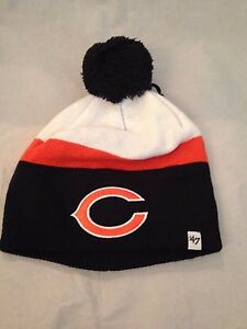 85aacfca4 Chicago Bears NEW Youth Striped Johan Winter Knit Hat . NFL Football ...