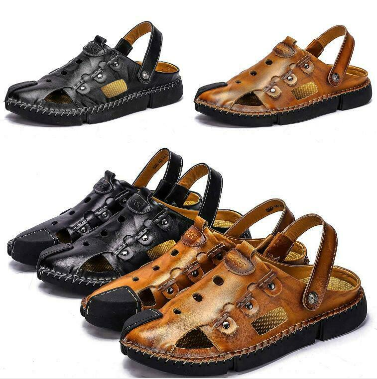 Mens Beach Seals sautope Slippers Flats Slip on Hollow out Breathable Casual nuovo