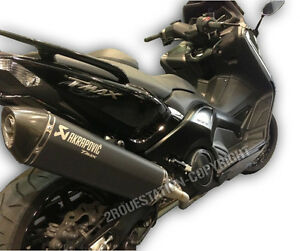 pot d 39 echappement ligne compl te akrapovic black noir yamaha tmax 500 530 08 16 ebay. Black Bedroom Furniture Sets. Home Design Ideas
