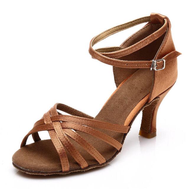 Brand New Women's Ballroom Latin Tango Dance Shoes heeled Salsa 9 Colors 213-S