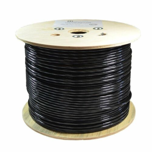 500FT CAT6 OUTDOOR//DIRECT BURIAL CABLE 100/% COPPER SOLID UTP ETHERNET 23AWG