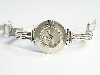 W00673 SHABLOOL ISRAEL Didae Handcrafted Sterling Silver 925 Bracelet Watch