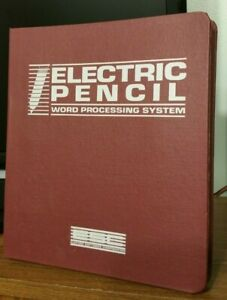 EXTREMELY-RARE-1986-Electric-Pencil-Word-Processing-System-Software-DOS-Version