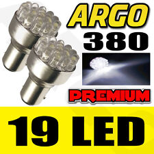 2X 1157 BAY15D P21/5W 380 19 LED WHITE CAR BRAKE TAIL STOP TURN LIGHT LAMP BULBS