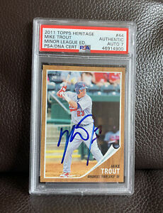 Mike-Trout-Signed-2011-Topps-Heritage-Minors-Card-Psa-Dna-Slabbed-Graded-Auto