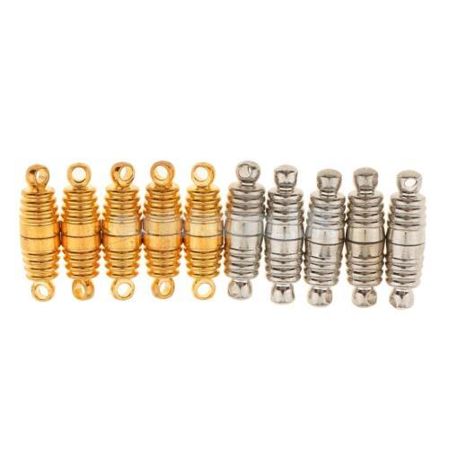 10Pcs Spiral Shape Magnetic Snap Clasp Buckle for Fastener Necklace Bracelet