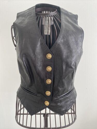 Authentic Designer Black Leather Moschino Women's