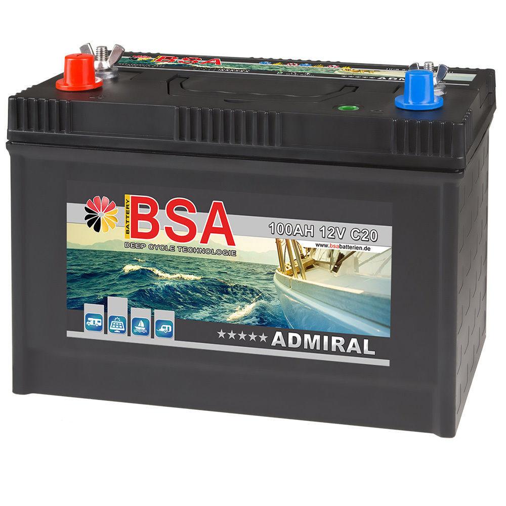 BSA ADMIRAL 100AH Stiefelbatterie 12V Batterie Stiefele Versorgungsbatterie Marine Stiefelbatterie 100AH 57f566