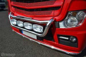 Pour-Scania-4-Series-Acier-Grille-Barre-Lumineuse-C-Jumbo-Pois-Pas-Bloc