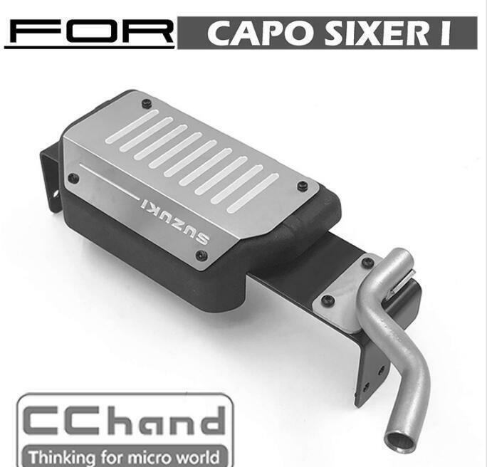 Simulation  Tank + Exhaust Pipe for Capo sixer 1 6 Samurai rc auto  sconto online di vendita