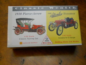 GLENCOE #3609 1910 PIERCE ARROW & 1909 STANLEY STEAMER, SUITABLE FOR O GAUGE