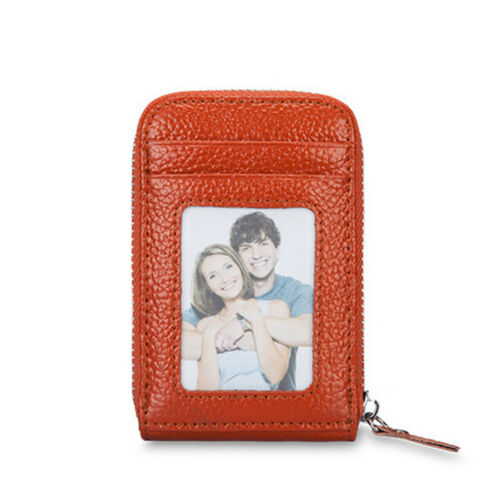 Men Women/'s Mini Slim Leather Wallet ID Credit Card Holder Case Organizer Purse
