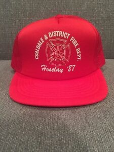 d841e79d4fc Image is loading Vintage-Coaldale-Alberta-District-Fire-Department-Mesh-Back -