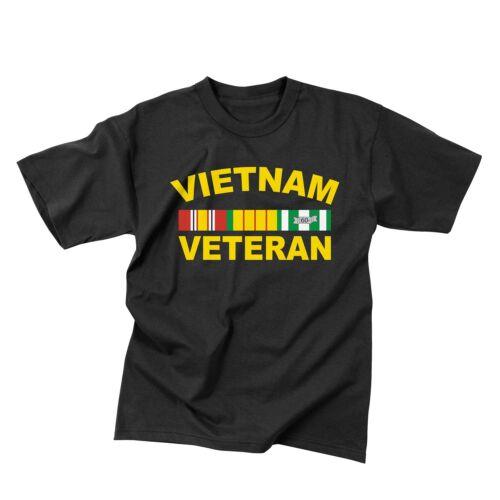 Vietnam Veteran Black Military T-Shirt Rothco 66540