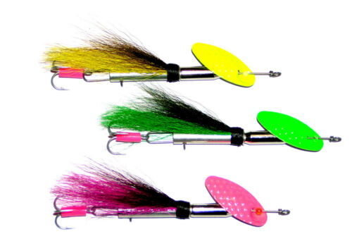 3 Stück Spin Flyer In-Line,Streamer SPINNER,10g,Hand Made,Spinnerbait,angeln