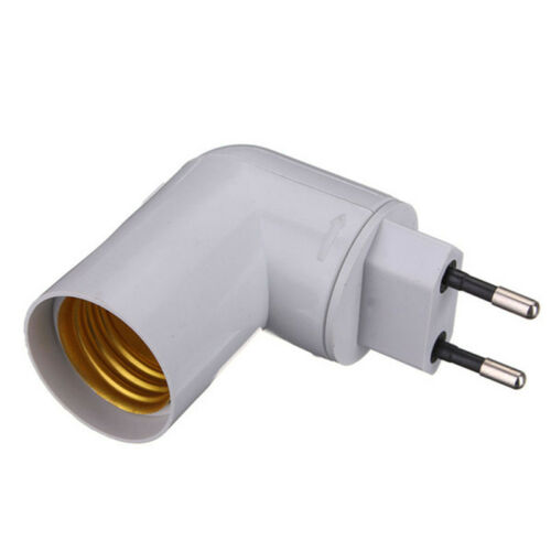 PP To E27 Base LED Light Lamp Holder Bulb Adapter Converter Screw Socket Switch