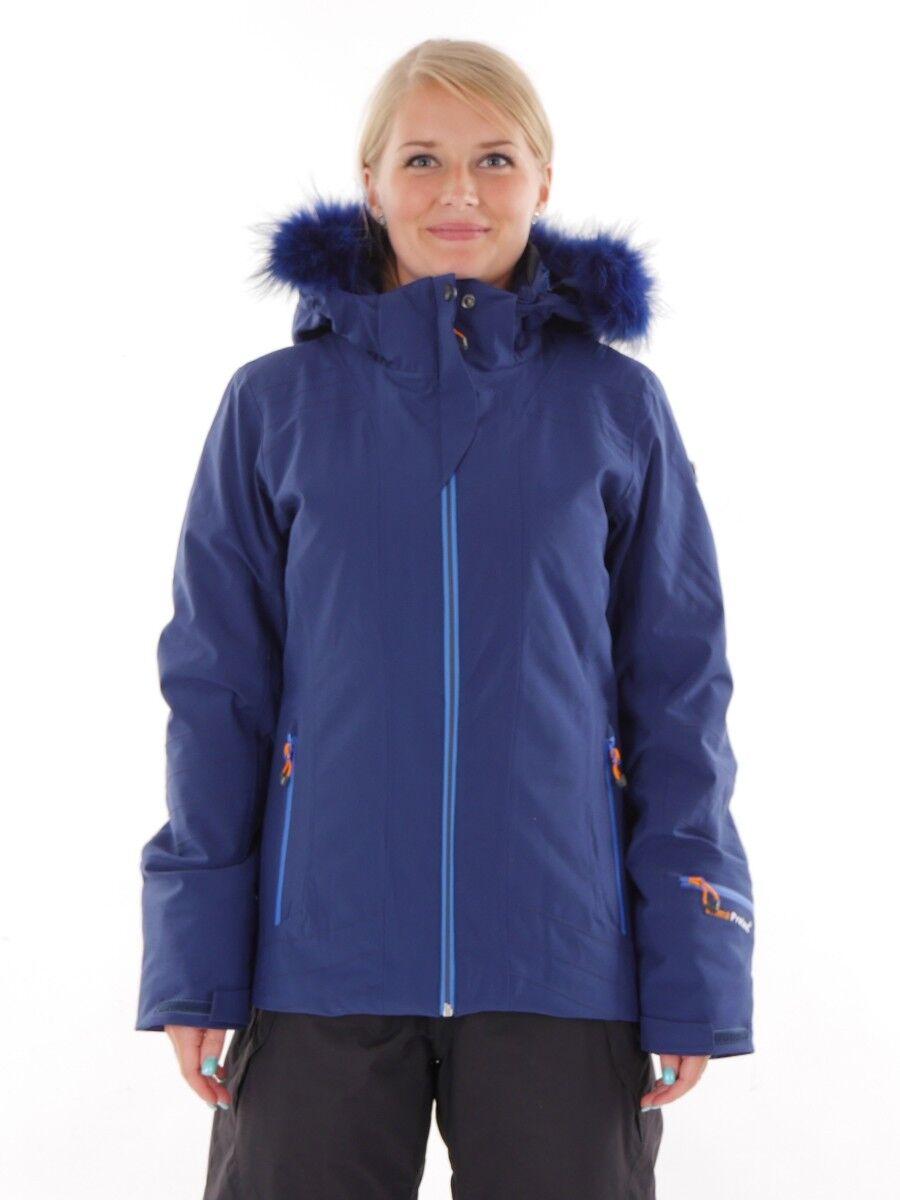 CMP Giacca Snowboard Invernale blu Elasticizzato Pelliccia Sintetica