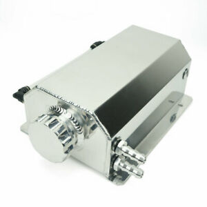 Universal 2L Aluminium Alloy Water Coolant Header Overflow Expansion Tank Polish