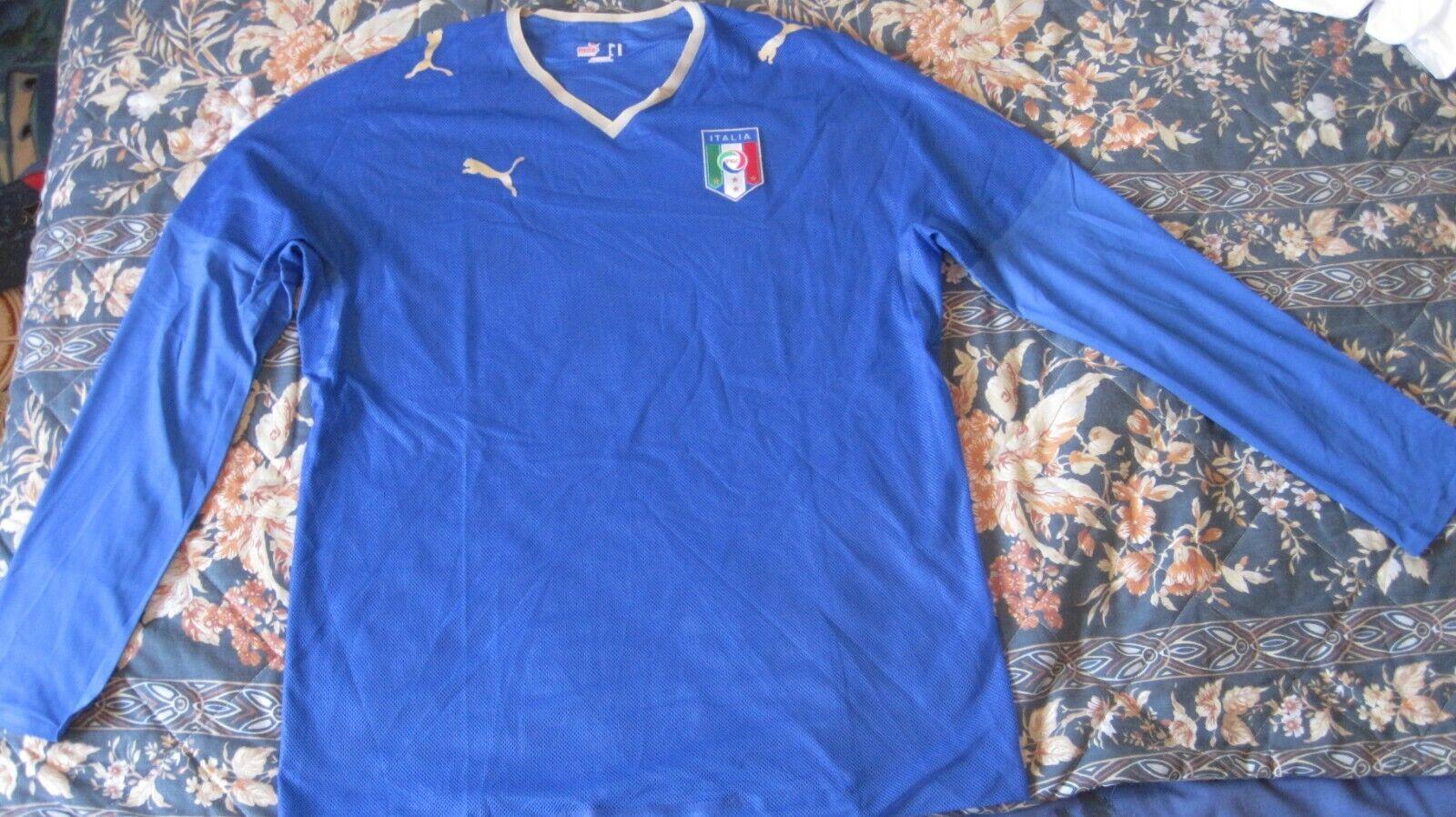 Maglia Camiseta Shirt Trikot ITALIA Puma Long Sleeve Size XL