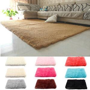 D 39 un pais shaggy tapis moderne facile d 39 entretien florh he unicolore top prix ebay - Nettoyage d un tapis shaggy ...