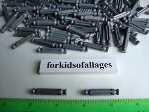 100-KNEX-METALLIC-GRAY-SILVER-RODS-1-5-16-034-Bulk-Standard-K-039-nex-Parts-Pieces-Lot