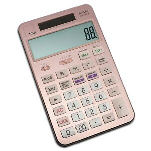 mts-fn-X88-OFFICE-Taschenrechner-Solar-Metall-grosses-Display-rosegold-rosa-pink