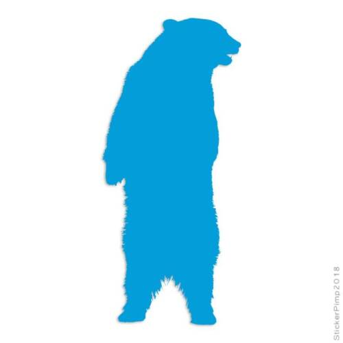 Standing Bear Grizzly Decal Sticker Choose Color Size #2793