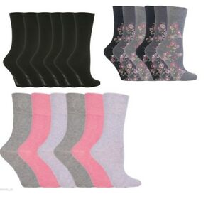 Ladies Gentle Grip Non-elastic Cotton Rich Socks With Honeycomb Top By Sockshop Socken & Strümpfe Socken
