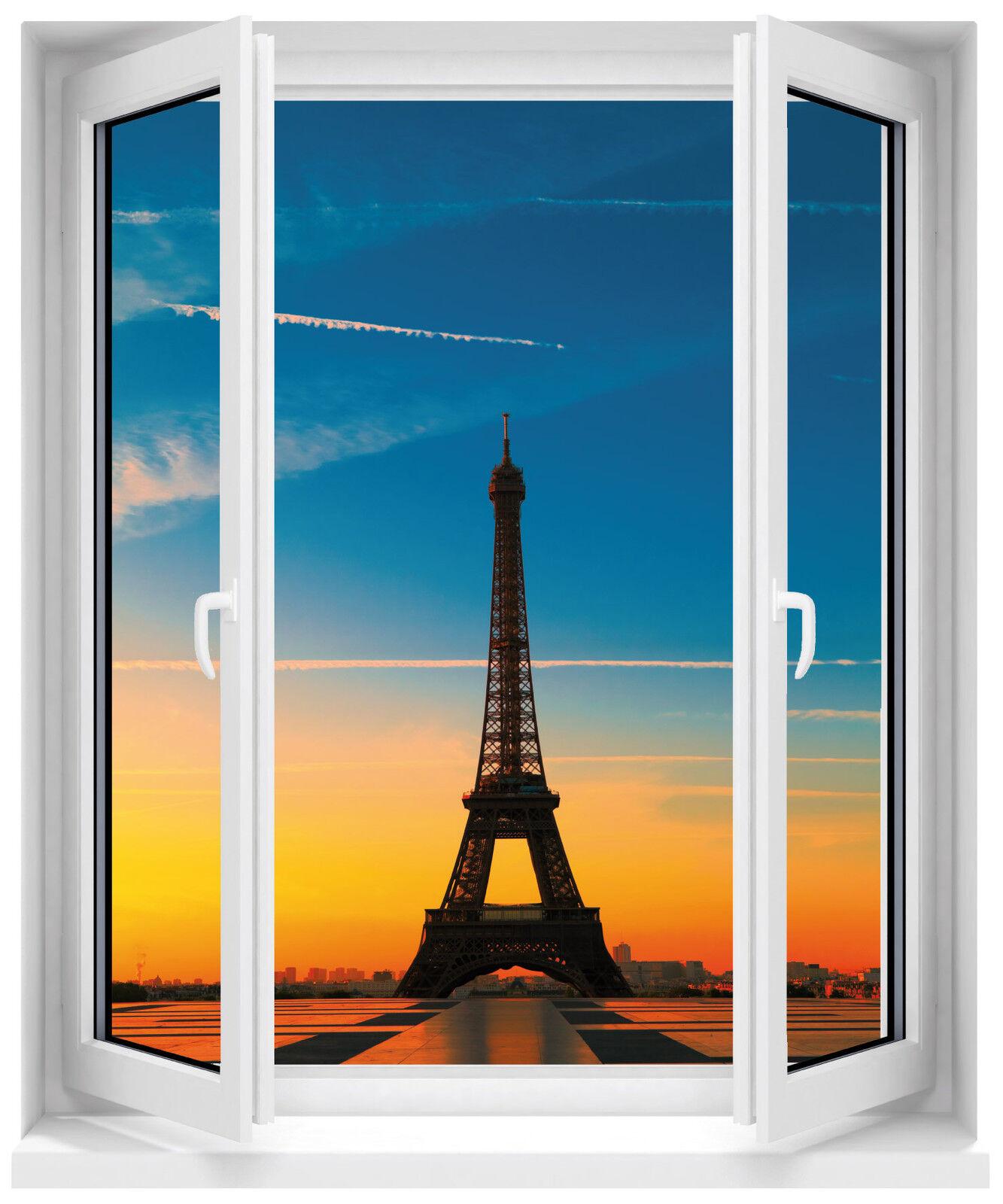 Adhesivo Ventana Torre Eiffel 80x100cm Ref F513