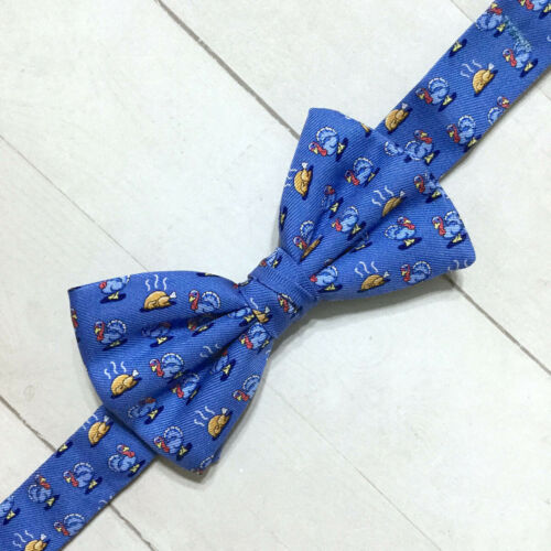 Vineyard Vines Silk Bow Tie Boys Pre-Tied Apples Lobster Nautical Turkey Dinner