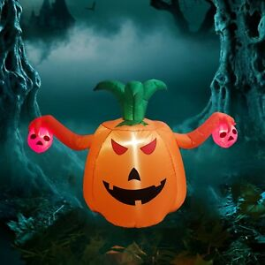 Inflatable Halloween Decorations | Dreamone 5 Foot Halloween Inflatable Pumpkin Halloween Decorations