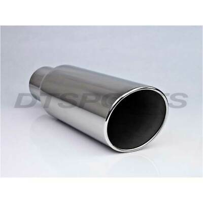 """Different Trend Rolled Slant Polished Weld-On Exhaust Tip 4/"""" ID 8/"""" OD 18/"""""""