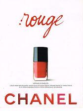 PUBLICITE ADVERTISING 074  1995  CHANEL cosmétiques ROUGE  vernis à ongles