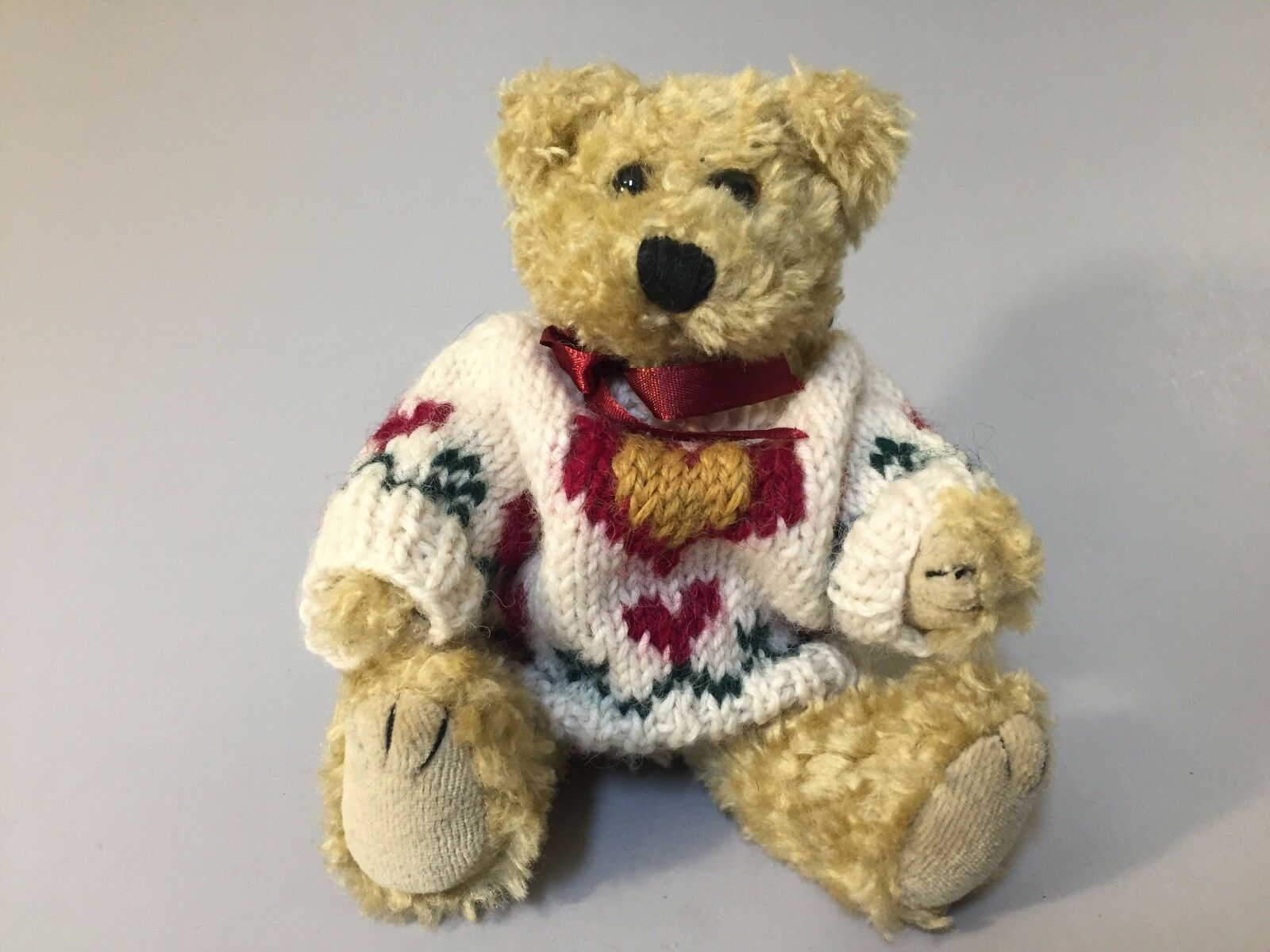 BROWN STUFFED BEARS BEAR, BOYDS BEARS STUFFED Artemus, bear with sweater, NWT plush bear a3cd58