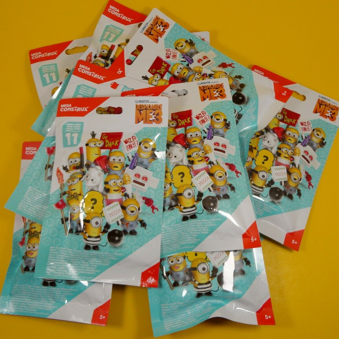 Mega Construx Despicable Me 3 MINIONS Series 11 - Complete SET of 12 -New Sealed