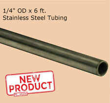 Round Tubing 304 Stainless Steel 14 Od X 6 Feet Seamless 0230 Inch Inside Dia