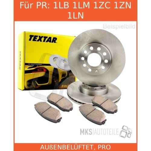 2x Textar Disques De Frein Garnitures de freins complet Set Avant VW Seat 3396211