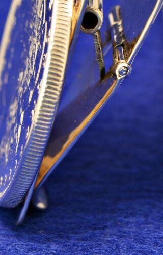 American Eagle moneda de plata de Estados Unidos Martillado Textura Plata Esterlina clip de dinero