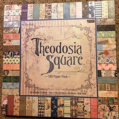 Theodosia Square 12x12 Scrapbooking Paper Pad 180 Sheets Vintage