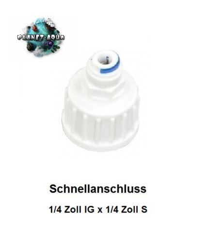 """Wasser Anschluss Verbinder 1//4/"""" Umkehr Osmose Anlage Wasserfilter Schlauch Hahn"""
