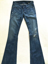 *RARE* William Rast Savoy ULTRA LOW rise flare EVENING trouser blue jean 25 $242
