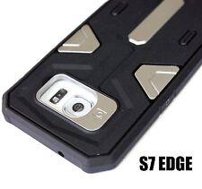 For Samsung Galaxy S7 Edge - HYBRID HIGH IMPACT CASE COVER SILVER BLACK ARMOR