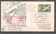 TIMBRE MAROC FRANKREICH KOLONIE FDC 1955 25 ANS ATLANTIQUE SUD