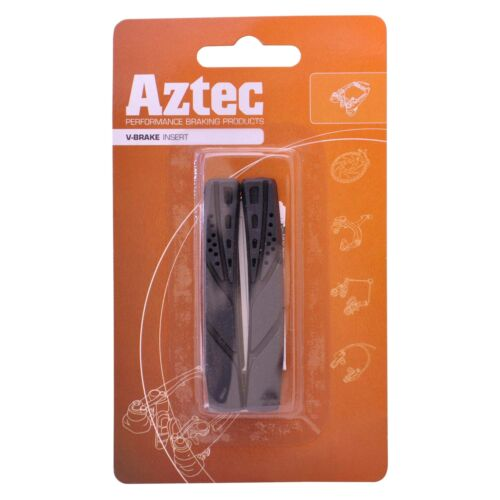 Aztec V-Brake Insert Replacement Blocks Pads Charcoal