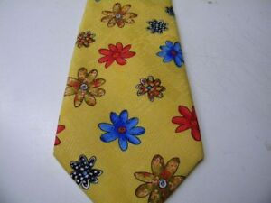 CRAVATE-homme-neuf-pierre-Alexandre-polyester-jaune-fleur-rouge-bleu-cr12
