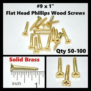 """#7 x 1-1//4/"""" Round Head Wood Screws Slotted Drive Stainless Steel Quantity 100"""
